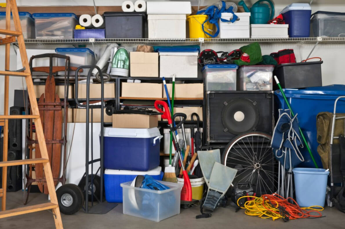 Clutter and stuff we do not need in our homes